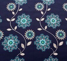 Impressions Fall 2012 Flora Ty Pennington BTY Navy Blue Green Teal Floral