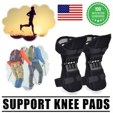 2Pcs Knee Support Brace Pads Booster Joint Lift Squat Sport Power Spring Force