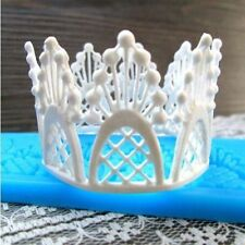 Small Lace Silicone Mold Tiara Sugar Craft Fondant Cake Decorating Baking Tool