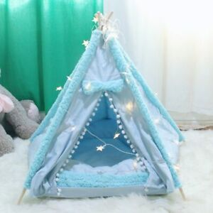 Portable Dog Tent Pet Teepee Foldable Cat Tent Dog Kennel Puppy House Washable