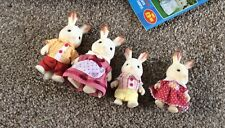 Sylvanian Families Chocolate Rabbit Family Clean Condition Original Clothes Box