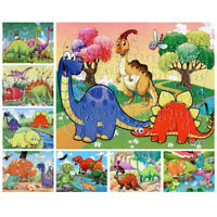 21*28CM 40 Pieces paper cute Cartoon dinosaurs Jigsaw Puzzle toy for kids U_X