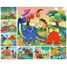 21*28CM 40 Pieces paper cute Cartoon dinosaurs Jigsaw Puzzle toy for kids A8A