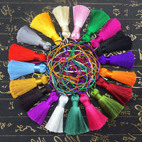 KQ_ CW_ 5cm 10 Colors Key Chian Pendant Ice Silk Tassel Trim Jewelry Making DIY