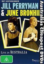 Jill Perryman & June Bronhill - Live In Aust DVD NEW, FREE POST IN AUST REG ALL