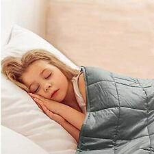 "Kids Weighted Blanket 5lbs (36""x48"" Dark Grey)   Heavy Blanket   B 36""x48"" 5 Lbs"