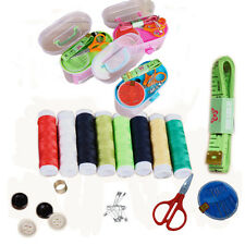 New Buttons Needle Thread Tape Measure Scissors Thimble Storage Box Sewing Kits