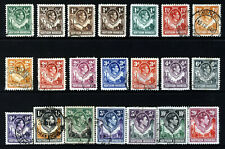 NORTHERN RHODESIA KG VI 1938-52 Giraffe & Elephants Part Set SG 25 to SG 45 VFU
