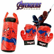 3pcs Marvel Avengers Spiderman Kid Boxing Bag Gloves Punching Set Children Toys