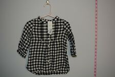 R 421 Baby Gap Baby Girl Dress Black White Long Sleeve Size 12-18 month