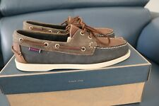 Mens New Sebago Portland Spinnaker Waxed Boat Shoe Size 8UK/42 EUR