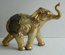 DECORATIVE GOLDEN GLITTER ELEPHANT ORNAMENT  NOVELTY GIFT ITEM