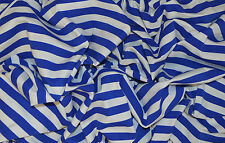 BLUE & WHITE SAILOR STRIPE T-SHIRT SINGLE JERSEY STRETCH FABRIC BY THE METRE