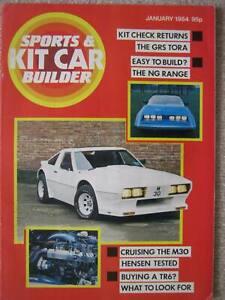 Sports & Kit Car Builder January 1984 GRS Tora M30 Hensen BRA J Type Albar Sonic