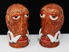BEAUTIFUL COOL VTG MR BALI HAI HEADHUNTER TIKI SALT & PEPPER SHAKERS HAWAIIANA
