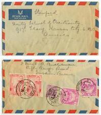 1948 Rangoon Sorting Burma air mail combination cover to Missouri