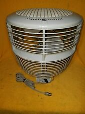 Nice Vintage GENERAL ELECTRIC Hassock Floor Table 3 Speed Dual Blade Fan GE G.E.
