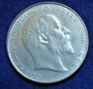 King Edward VII 1902 Great Britain Proof Silver 1/2 Crown