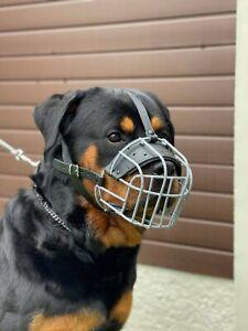 New Metal STRONG Wire Basket Dog Muzzle Rottweiler,Mastiff Golden Retriever