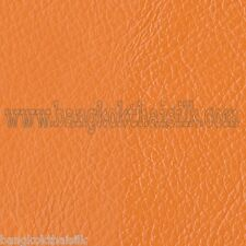 ORANGE LEATHER SOFT FABRIC for UPHOLSTERY SEAT STOOL BOOK SHOES SOFA