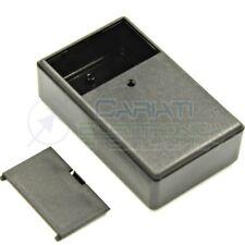Contenitore custodia 99x60x30 mm con vano pila AA AAA o 9V in ABS nero