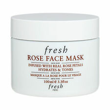 Fresh Rose Face Mask 100ml Repairing Brightening Rose Petal Essence Mask #17108
