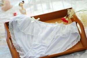 Lovely Cute Lolita Kawaii Bouffancy Pleated Ruffle Lace Panties Underwear Brief