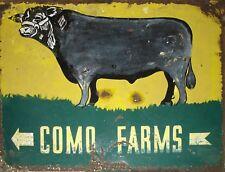 """TIN SIGN """" Como Farms""""  Food Deco Rustic Wall Decor"""