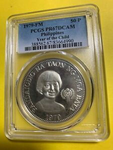 PHILIPPINES 1979 50 PISO INTERNATIONAL YEAR OF THE CHILD PCGS PR67 DC