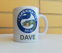Personalised Mug - NRL Parramatta Eels - Your name in the bottom