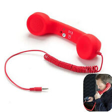 Computer Red Retro POP   Handset Mobile phones 3.5mm Jack For iPhone