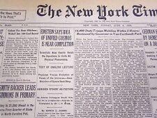 1930 JUNE 8 NEW YORK TIMES - EINSTEIN UNIFIED COSMOS NEAR - NT 4251