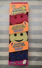 SCRUB MOMMY 3 PACK COLORS Pink Blue Purple Dual Scrubber Soft Sponge Scrub Daddy