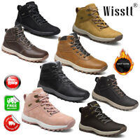 Men's Fur Lining Lace up Non-slip Warm Waterproof Winter Snow Ankle Boots Shoes