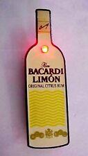 RARE 1990's BACARDI LIMON RUM Pinback Flashing Button Lighted Promo Pin