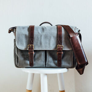 ONA Camera Bag, Brixton in Smoke (Waxed Canvas)