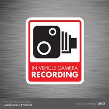 SKU105 - In Vehicle Camera Recording Car Sign Sticker - CCTV - Go Pro - Dashcam