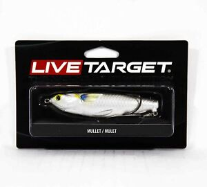 Live Target MCH100T716 Mullet Commotion Bait 4 Inch Silver (2624)