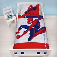 OFFICIAL SPIDERMAN JUNIOR TODDLER COT BED DUVET QUILT COVER SET BOYS CHILD GIFT