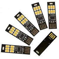 5 Stueck USB Licht Schluesselanhaenger Super Hell 6 LEDs Mini USB Licht Lampe PA