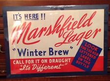 VINTAGE ADVERTISING MARSHFIELD WINTER LAGER BEER PAPER POSTER SIGN