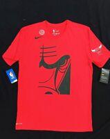Medium Men's Nike Dri-Fit t-shirt NBA Chicago Bulls Cropped Logo AJ2409-657 Red