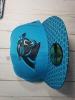 Carolina Panthers Blue Fitted 7 1/2 Flat New Era  NFL Hat