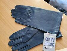 Nwt Vintage Ladies Navy Genuine Leather Gloves Size 7½ - Woodward & Lothrop