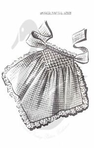 Reproduction Vintage Smocked Hostess Apron Sewing Pattern 5013