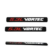 Fits 2pcs 5.3L Vortec Badge Emblems 3D Decal 1500 2500hd Silverado Red Blk White