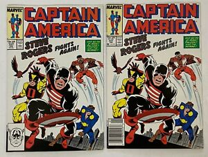 CAPTAIN AMERICA #337 Key 1st US Agent Black Suit Lot Direct + Newsstand VF 8.0