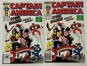 CAPTAIN AMERICA #337 Key 1st US Agent Black Suit Lot Direct + Newsstand VF 8.0