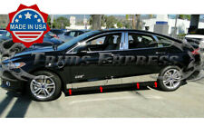 2013-2019 Ford Fusion Chrome Rocker Panel Body Side Trim Accent Stainless Steel