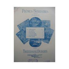 DUBOIS Théodore Poèmes Sylvestres Les Myrtilles Piano partition sheet music scor